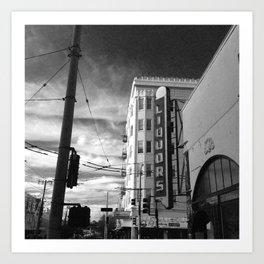 Inner Liquors Black & White San Francisco Art Print