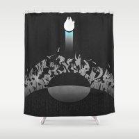 return Shower Curtains featuring Return by Ed Burczyk