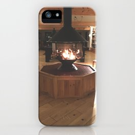 Cozy Fireplace at the Lodge iPhone Case