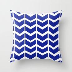 navy chevron Throw Pillow