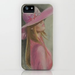 Lady in the hat iPhone Case