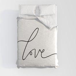 Love   Quote   Line work Comforters