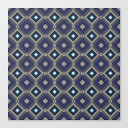 Vintage Quilted Patchwork Retro Geometric Seamless Pattern Canvas Print