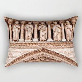 Notre Dame Mural Rectangular Pillow