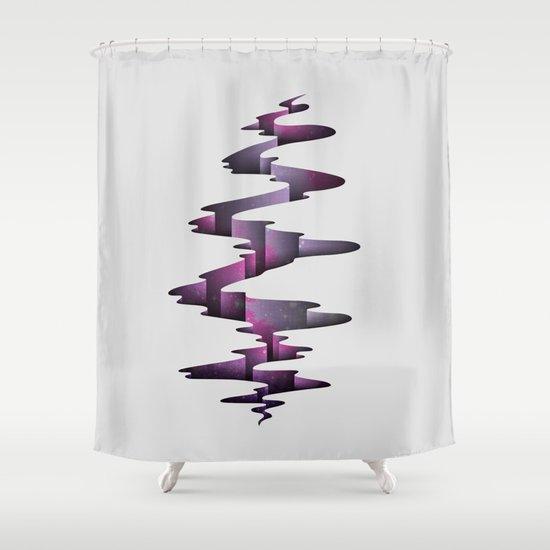 Tectonic Wormhole Shower Curtain