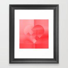 Danish Heart Love Framed Art Print