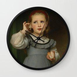 "William-Adolphe Bouguereau ""Le Bruit de la Mer (The Sound of the Sea)"" Wall Clock"
