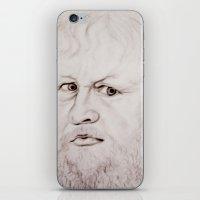 beard iPhone & iPod Skins featuring beard by Ela Caglar