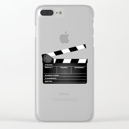 Clapperboard Clear iPhone Case