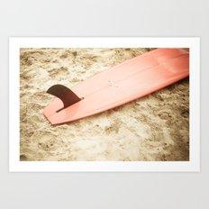 Red Surfboard Art Print