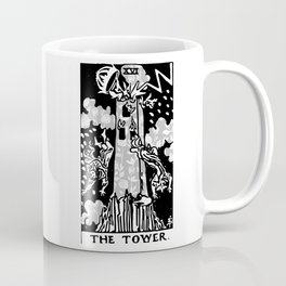 The Tower - A Floral Tower Print Coffee Mug
