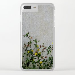 Minimal flora - yellow daisies wild flowers Clear iPhone Case