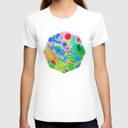 Marbling 4, Tie Dye Effect Abstract Pattern T-shirt