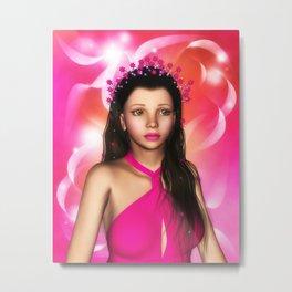 Jillian Star Elf-Magic Portrait Metal Print