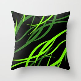 Pattern from colored intersecting flowing green lines in the nautical theme. Throw Pillow