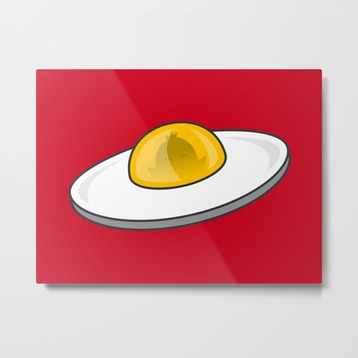 Egg - Cute Doodles Metal Print
