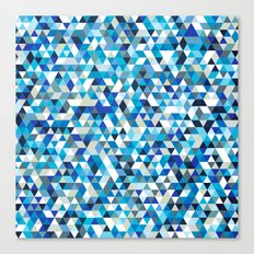 Icy triangles Canvas Print