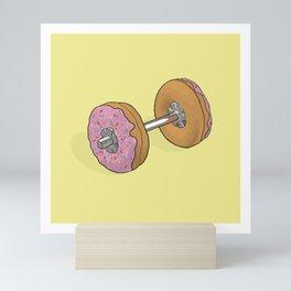 Donut Dumbbell Mini Art Print