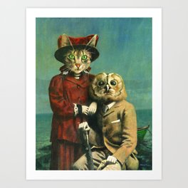 363d6b811 The Owl And The Pussy Cat Art Print
