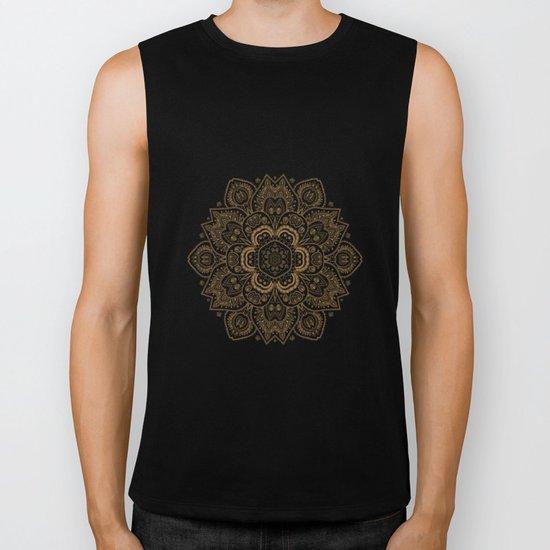 Mandala Temptation in Cream Biker Tank