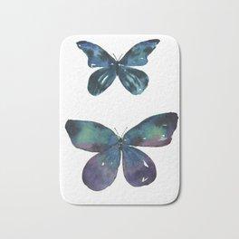 Jewel Butterflies Watercolor Bath Mat