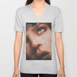 Pulp Fiction, Quentin Tarantino, alternative movie poster, Uma Thurman, Mia Wallace Unisex V-Neck