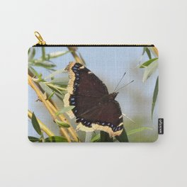 Mourning Cloak Butterfly Sunning Carry-All Pouch