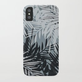Gray Leaves pattern . iPhone Case