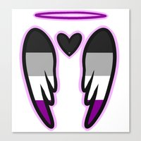asexual Canvas Prints featuring Asexual Angel by Nephylim9