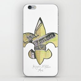 Fleur De Lis Bourbon Street iPhone Skin