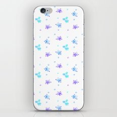 Watercolor Floral Print (blue + violet) iPhone & iPod Skin