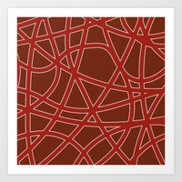 many streets darkred Art Print