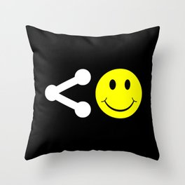 Share Happiness Throw Pillow