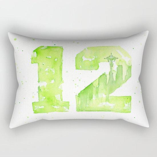 12th Man Seattle Art Rectangular Pillow