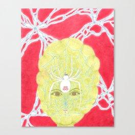 Meditative Mama Series~ White Widow~ Canvas Print