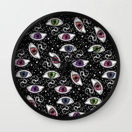 Cosmic Color eyes Wall Clock