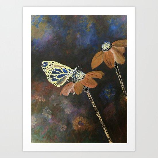 Butterfly Blues Art Print