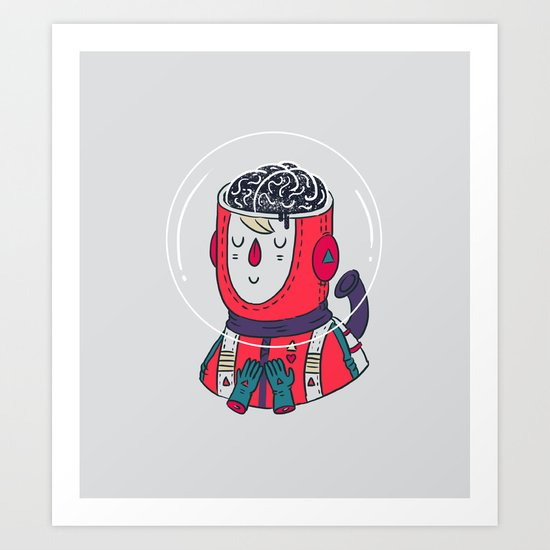 Space On The Brain Art Print
