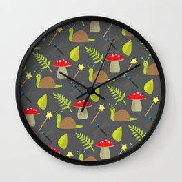 Fairy Garden Pattern 2 Wall Clock