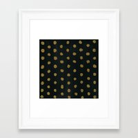 gold dots Framed Art Prints featuring GOLD DOTS by natalie sales