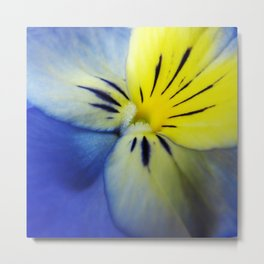 Flower Blue Yellow Metal Print