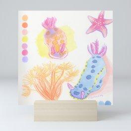 Colorful Ocean Invertibrates/Starfish/Sea Slugs Mini Art Print