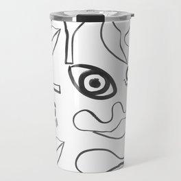 Eyes and nose and lips Travel Mug