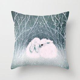 Baby Bun Buns Throw Pillow