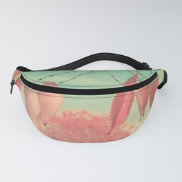 Flamingo Pink Autumn Leaves Fanny Pack
