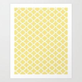 Yellow Quatrefoil Art Print
