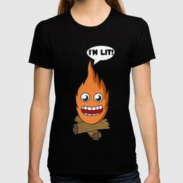 Young Fashion I'm Lit Tshirt Design T-shirt