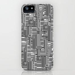 Black-White iPhone Case