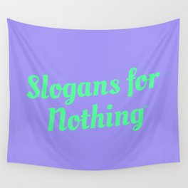 Bright Green Slogans Wall Tapestry
