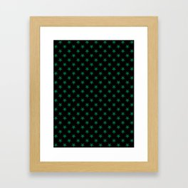 Cadmium Green on Black Stars Framed Art Print